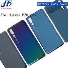 10 adet/grup Arka Pil Cam Kapak Için Yedek parça Huawei P20 P20 pro Arka Konut Şasi Kapı Case Arka + etiket