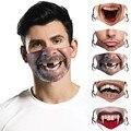Маска для лица с забавным принтом для взрослых, унисекс, ветрозащитная Пылезащитная моющаяся маска, дышащая Регулируемая Маска mondkapjes wasвел #...
