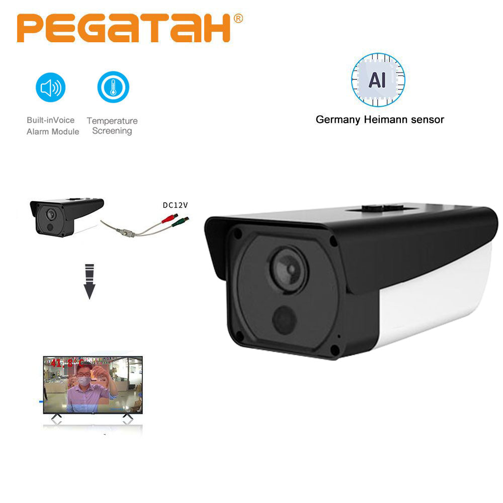Thermal Camera 1080P Fever Detection Alarm Temperature Face Recognition Camera Human Body Temperature Detection Camera Thermal