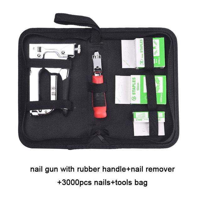 مسدس التيلة الثقيلة مسدس التيلة 3 في 1 مسدس مسامير يدوية مع مزيل التيلة و 3000 المواد الغذائية لديي أثاث للديكور المنزلي