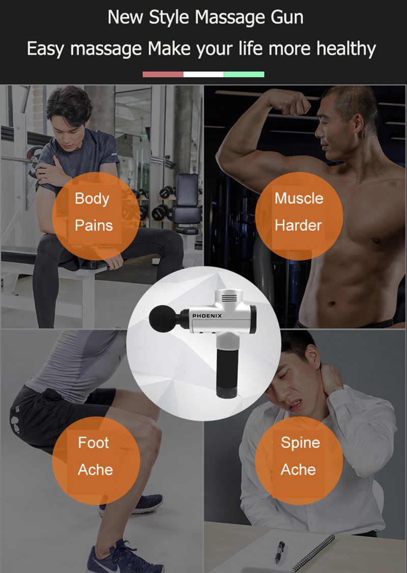 تدليك العضلات بندقية العلاج مدلك البنادق علاج الجسم مدلك الإغاثة الألم التعب بعد ممارسة لتخفيف الآلام