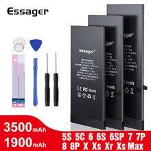 Essager – Batterie pour iPhone, pièce de rechange à haute capacité pour modèle 6, 6S, 5S, 5C, 7, 8 plus, X, Xs Max, Xr et 6plus