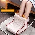 Электрическая грелка для ног с подогревом, моющийся подогреватель с дистанционным управлением, подушка для ухода за ногами, 24 Вт