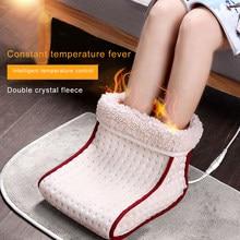 Elétrica quente pé mais quente macio respirável mais quente cuidados com os pés almofada lavável 5 modos de aquecimento aquece configurações de controle mais quente ue/eua plug