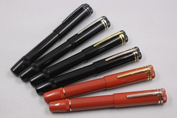 Wakaka Heritage Collection 1912 Black Red Resin Fountain Pen 109049