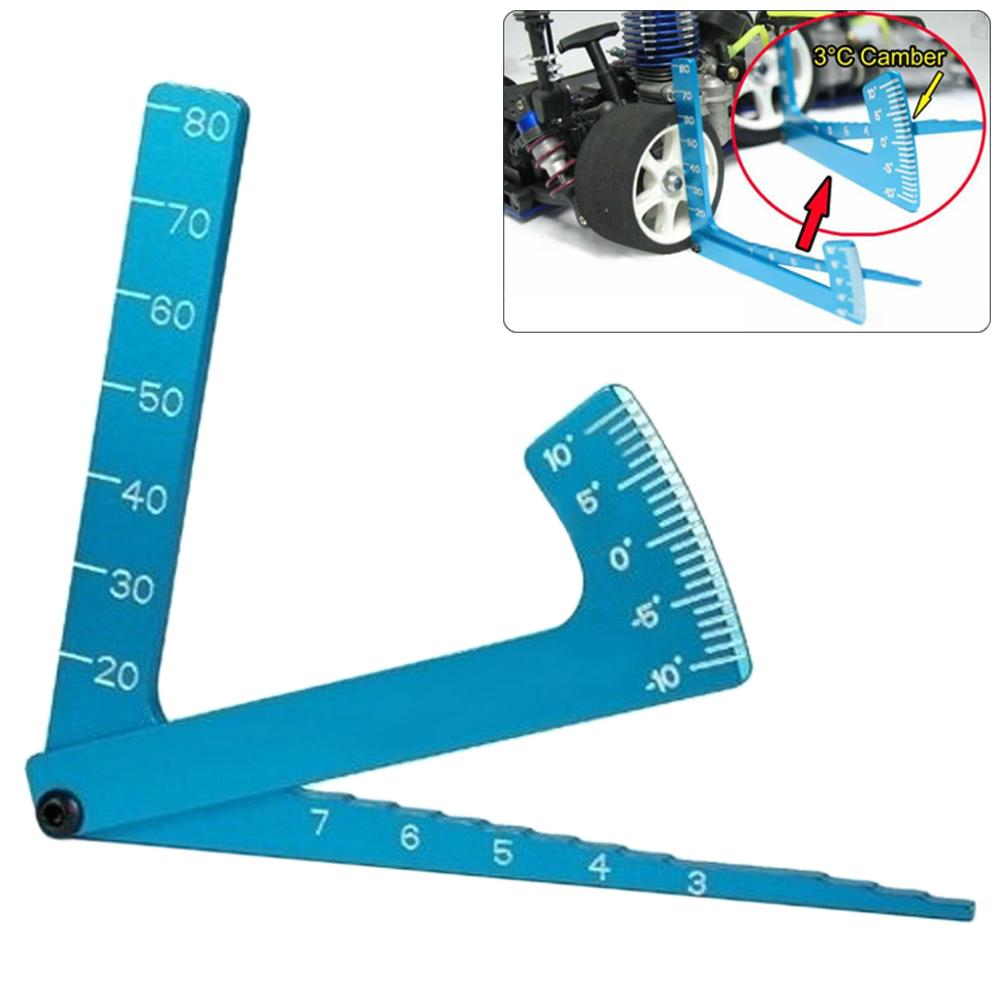 3 In 1 Aluminium Alloy Cars Auto Adjustable Measuring Angle Ruler Camber Gauge