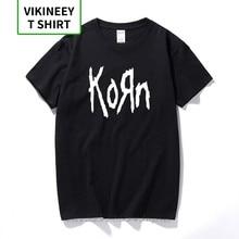 Korn-camisetas de moda para hombre, camiseta de manga corta con letras de banda de Rock, Camiseta de algodón, Camiseta estilo urbano de talla grande, envío gratis