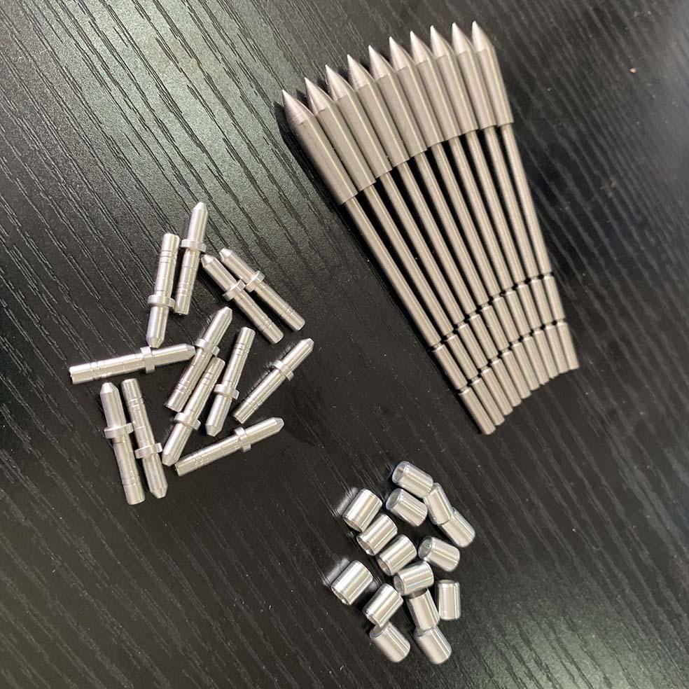 12pcs ID 3.2 Mm Arrow Heads + 12pcs Arrow Collar+12pcs Arrow Pin And Nocks For ID 3.2mm Arrow Shaft Archery DIY