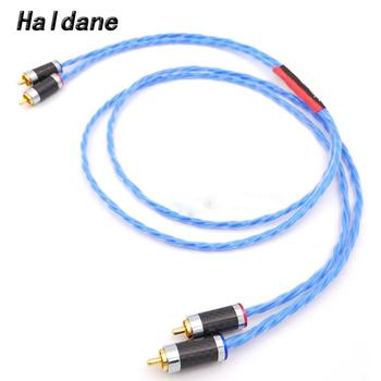 Haldane HIFI Nordost Silver Plated Cable Blue Wgite Gold Plated RCA Interconnect Cable