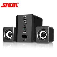 SADA D-202 комбинированные колонки USB проводные компьютерные колонки бас стерео музыкальный плеер сабвуфер звуковая коробка для ПК смартфонов