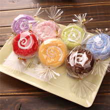 10 шт. леденец на палочке пирожное полотенце красочные конфеты креативный подарок полотенца красивое полотенце 20x20 см; Свадебная вечеринка подарок на день рождения Декор