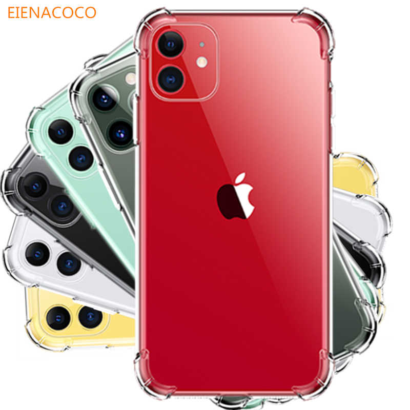 Luxe Shockproof Transparant Siliconen Telefoon Case Voor Iphone 11 Pro X Xr Xs Max 8 7 6 6S Plus tpu Clear Cover Voor Iphone 5 Case