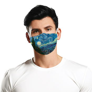 Fashion 3D Van Gogh paintings Printing Reusable Face Mask Unisex Mouth Muffle Mask Sports Windproof Anti-fog Breathable Masks
