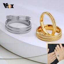Обручальные кольца vnox с пескоструйной обработкой свадебные
