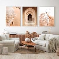 Impresiones de arte de pared para sala de estar, lienzos de pintura impresos para decoración del hogar, Estilo bohemio, Pampas, hierba, of Archway Mosc, Bohemia, playa, póster