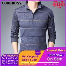 COODRONY ブランドセーター男性ファッションストライプセーター男性秋冬ニットプルオム綿ウールのセーター 91042