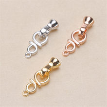 Wholesale Superior Quality Metal Zircon Silver/Gold/Rose Gold Clasps Hooks For Bracelet Necklace Connectors DIY Jewelry Making K008(China)