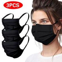 3 pçs algodão boca máscara unisex respirável tampas de boca reutilizável máscara lavável pano adulto máscaras protetora 3ply máscara facial