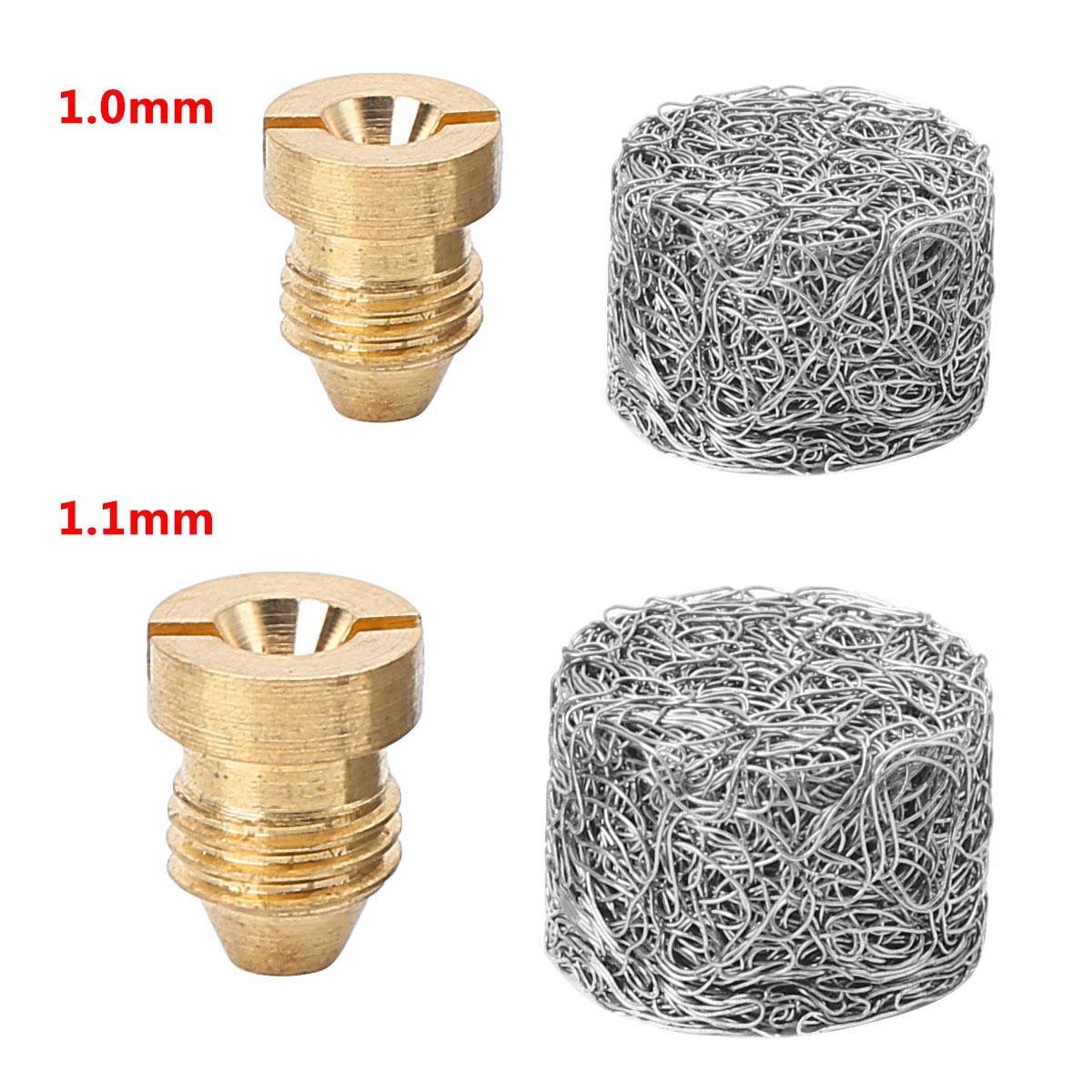 Bocal orifício para rosca de 1.0mm/1.1mm, conjunto de filtro de aço inoxidável para fabricante de espuma lança de espuma de neve