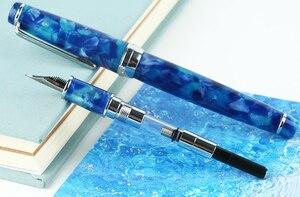 Image 5 - مون مان ديليك قلم حبر نيومون سلسلة الاكريليك الراتنج إيريديوم EF/F/صغيرة عازمة الكتابة قلم هدية مجموعة لمكتب الأعمال