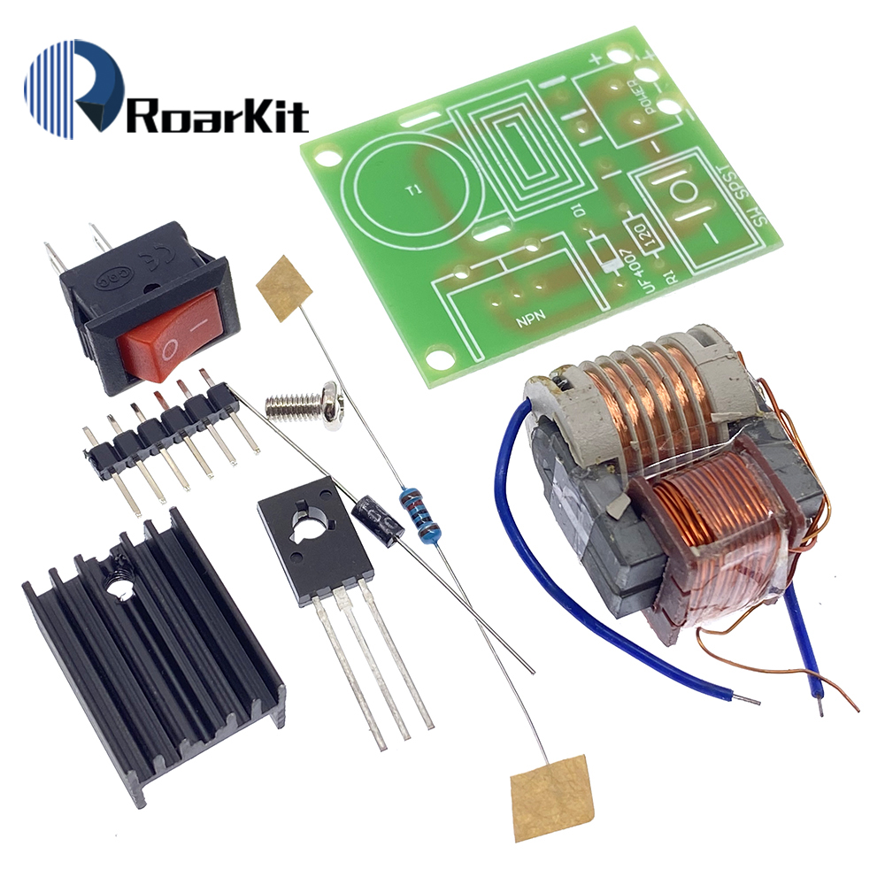 Высоковольтный генератор дугового зажигания постоянного тока, 15 кВ, инвертор, повышающий шаг 18650, комплект «сделай сам», U-образный трансфор...