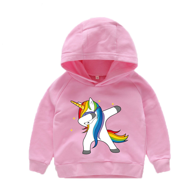 Sweatshirt Cartoon Pullover Hoodies Dabbing Animal Printed Girls Baby-Boys Kids Autumn