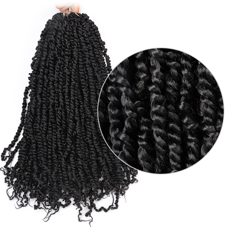 Toyotress Braiding Hair Synthetic Crochet Hair Pre-twisted Passion Twist Hair Pre-looped Spring Twist Hair Extensions