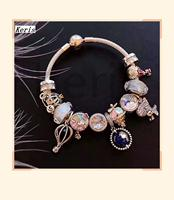 High Quality Replica 1:1 100% Silver Blue Star Dinosaur Pattern Bracelet With Free Shipping
