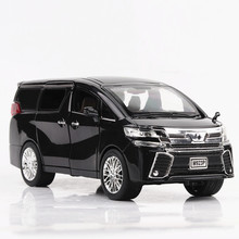 1:24 Diecast Toy Vehicle Alpha Metal Car Alloy Model Wheels Simulation Sound Light 6 Doors Can Be Open Pull Back For Boy