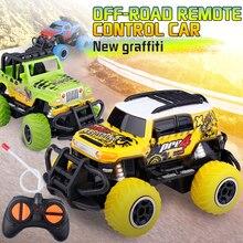1:43 4WD RC araba elektrikli tırmanma Buggy araba yüksek hızlı radyo kontrol kaya paletli Off Road araç modeli RC oyuncak arabalar çocuklar için