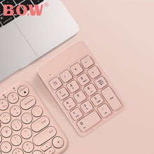 Bow 24 ghz беспроводная цифровая клавиатура 18 клавиш карманная