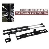 2Pcs Auto Car Front Engine Bonnet Gas Struts Bars Damper Hood Lift Support Shock For Toyota RAV4 2019 2020|Strut Bars| |  -