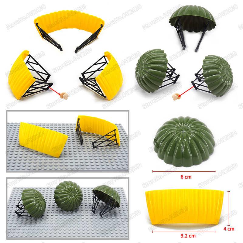 WW2 battlefield военные строительные блоки парашютное оборудование PUBG специальные полицейские воздушные рейды самодельные Фигурки Рождественские подарки мини-игрушки