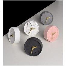 Accesorios creativos de decoración del hogar de estilo nórdico reloj de mesa de cemento Vintage reloj de escritorio de hormigón 탁계 계