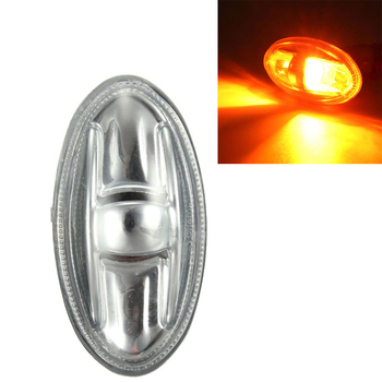 Side Marker Indicator Repeater Amber Turn Signal Light Replacement for Peugeot 108 107 206 1007 407 Partner image