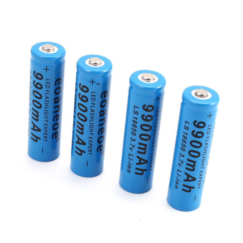 Eoaneoe 18650 Lithium Rechargeable Batteries Smart...