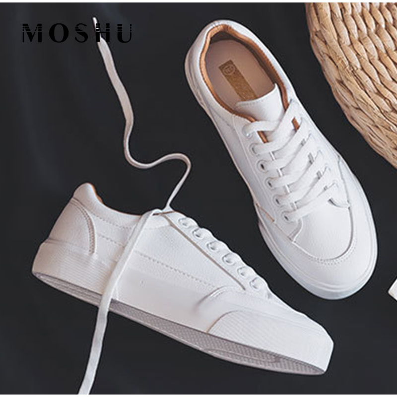 Women Sneakers PU Casual Shoes Woman White Flats Shoes Ladies Casual Comfort Shoes 2020 Autumn Spring Women Shoes Zapatos Mujer