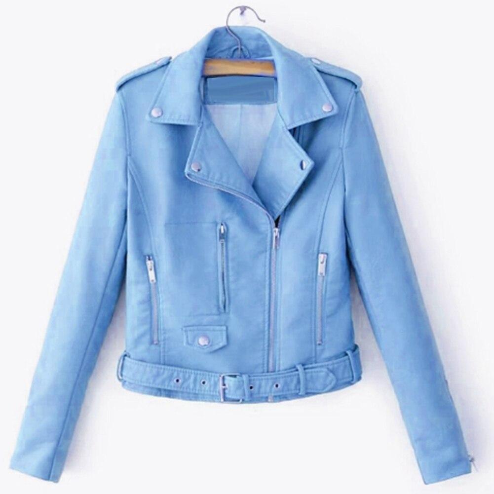 Hce870a821108452380bdde8a1489b901M Fashion Punk Women Coat Jacket Leather Long Sleeve Lapel Zipper Button Motorcycle Jacket Short Coat For Women's Clothings