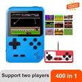 400 В 1 портативные игры ретро мини игровой плеер игровая консоль Поддержка двух игроков и игра на ТВ подарок для детей и взрослых