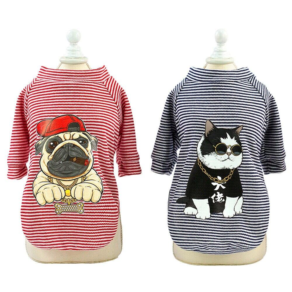 Playera Para Mascota Ropa Bonita Para Perros Bulldog Francés Camiseta De Algodón A Rayas De Chihuahua Chaleco De Pijama Informal Para Gato Para Mascota Pequeña Mediana S Xl Q40 Camisetas De Perro Aliexpress