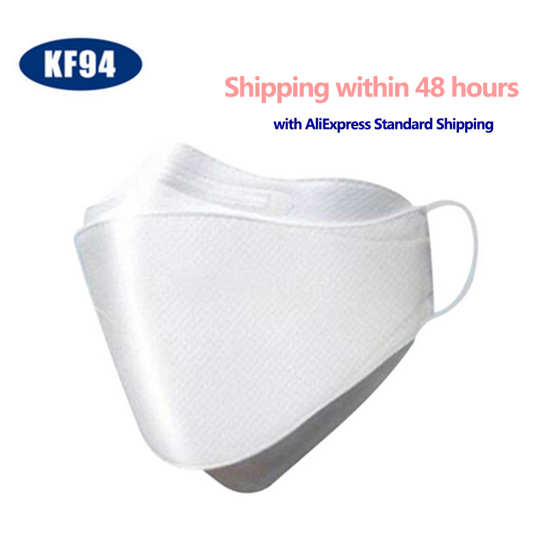 KF94 50pcs Pm2.5 Anti Pullute Dust Mask Infectious Disease Protect Face Mask Reusable Mouth Mask Unisex Earloop Protective Mask