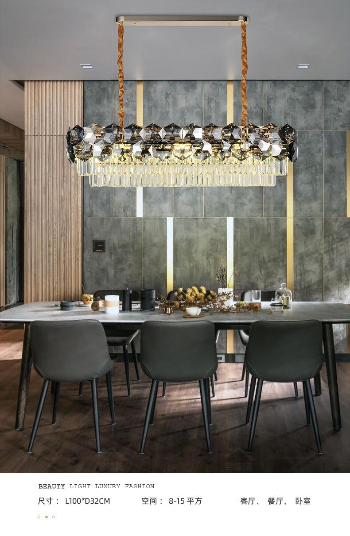 Pós moderna luz de cristal luxo sala
