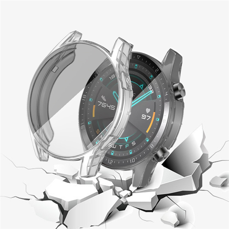 HD Watch Case For Huawei Watch GT 2 46mm Soft Tpu Full Screen Protection Case Protector Cover Accessories