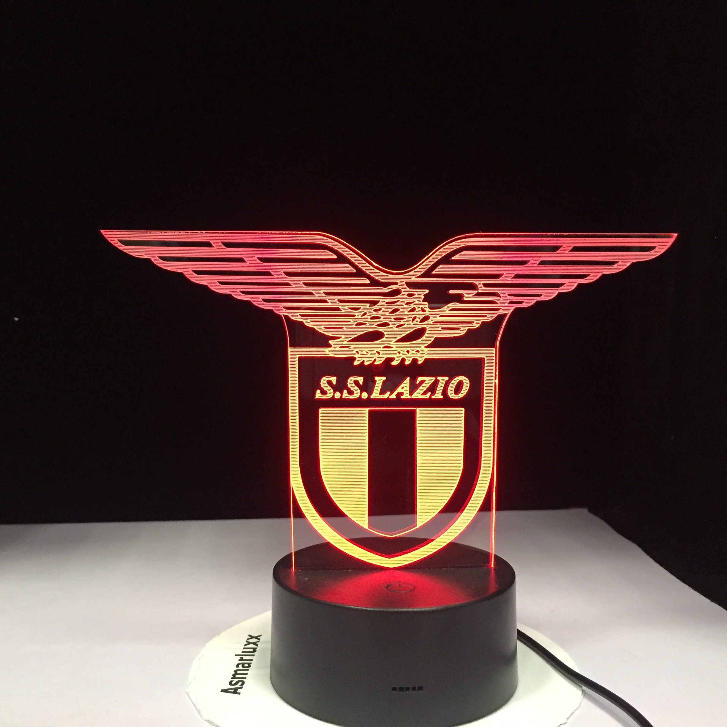 Ss Lazio Italian Club 3d Led Night Light Lamp Touch Sensor 7 Color Changing Office Club Home Bar Room Decorative Table Desk Lamp