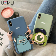 Mike Sulley Cute Cartoon Soft Silicone Phone Case For