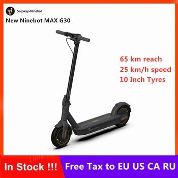 Ny original Ninebot MAX G30 KickScooter Fällbar Smart Elektrisk Scooter Hoverboard 350Km / h 25inch-hjul 10Km körsträcka