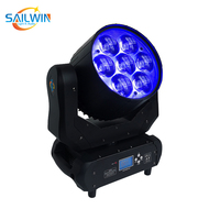 Hot Sale 7*40W RGBW LED Moving Head Wash Light Zoom Function With 14CH For Stage Wedding Event Party Mini Spot Effect DJ Light
