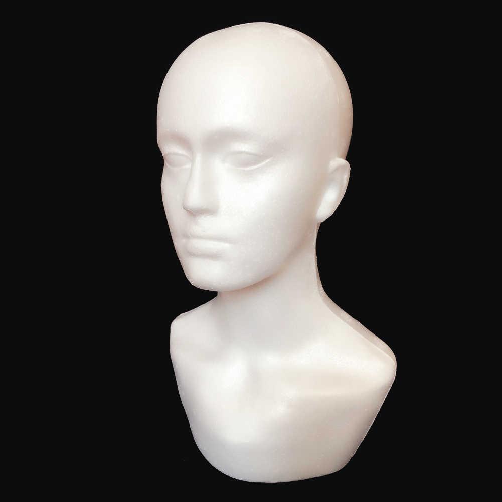ชายโฟม Mannequin HEAD สำหรับตู้โชว์แว่นตาหมวกวิกผมผ้าพันคอ