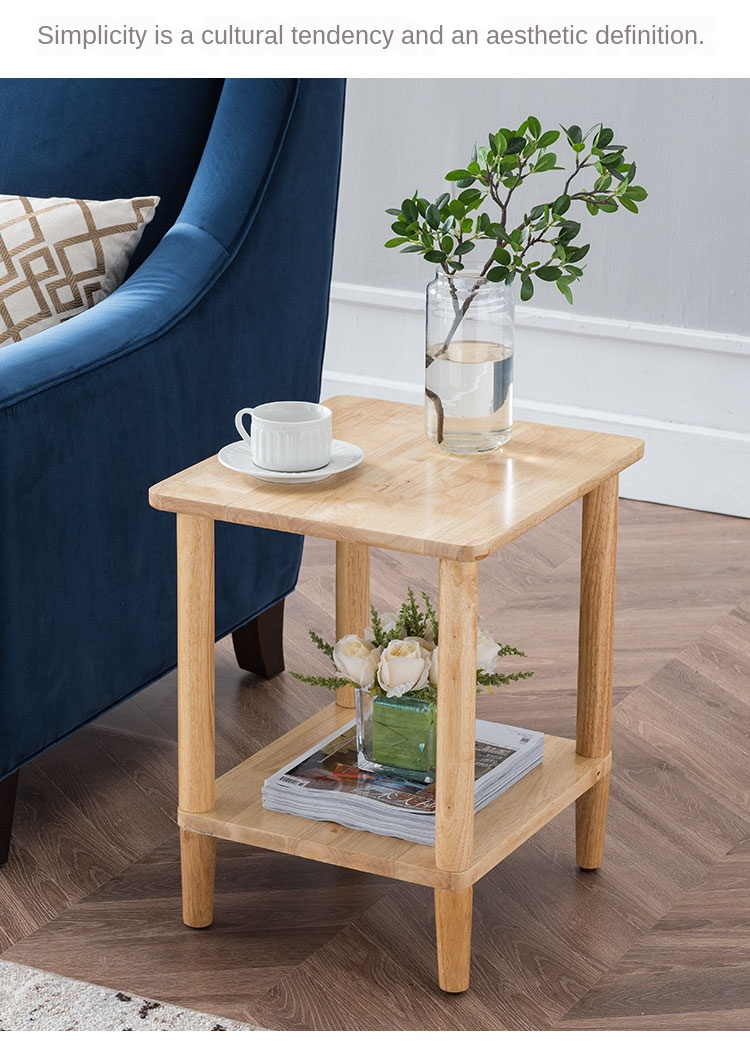 Japanese Style Side Table Solid Wood Home Simple Living Room Sofa Corner Coffee Double Square Bedroom Bedside Aliexpress