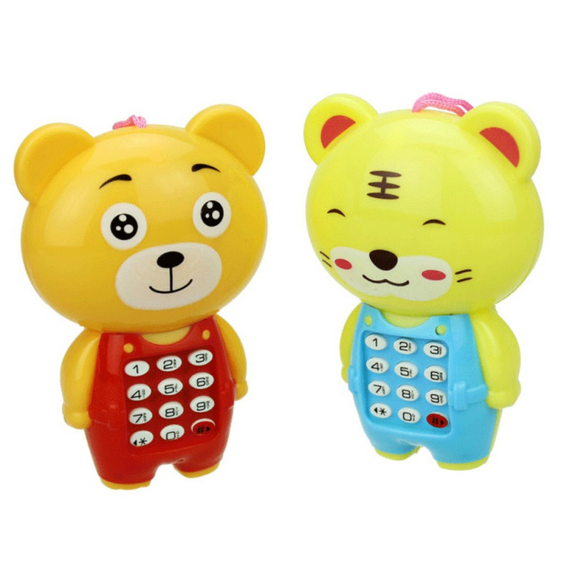 PP Material Baby Electronic Mobile Phone Toys Cartoon Animals Sounding Vocal Music Mobile Phone Toys Educational Learning Toys